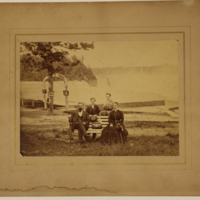 Family Seated at Prospect Point, Niagara Falls