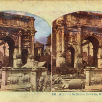 Stereoview Photograph of the Arch of Settimio Severo (A)