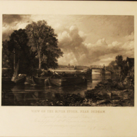 View on the river Stour by Dedham